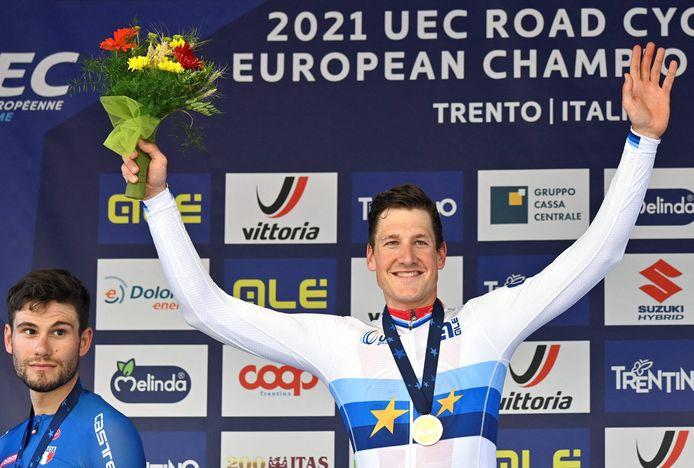 Stefan Küng werd vorige week nog Europees kampioen tijdrijden in Trento.