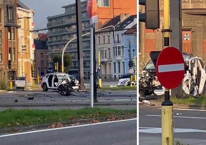 Grave accident avec une voiture de police à Gand.