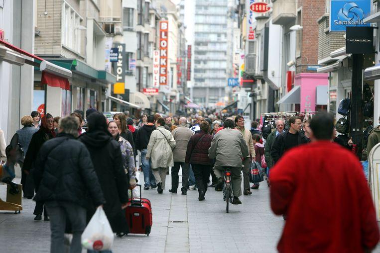 Archiefbeeld Kapellestraat Oostende.