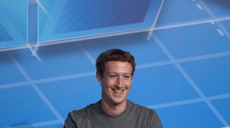 Mark Zuckerberg van Facebook Beeld AP