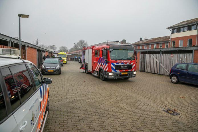 Hulpdiensten bij de woning in Arnhem.
