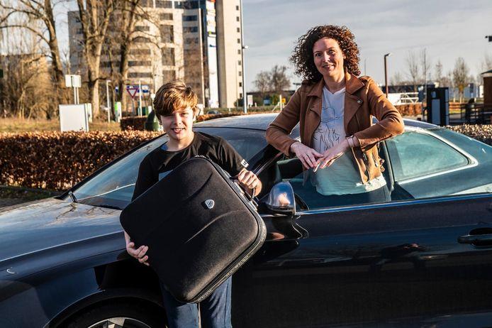Suzan Box en haar zoon Sem zijn de ochtend na de laatste uitzending meteen vertrokken naar Schiermonnikoog voor een lang weekend weg.