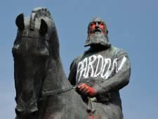 La statue de Léopold II à Trône vandalisée la nuit dernière