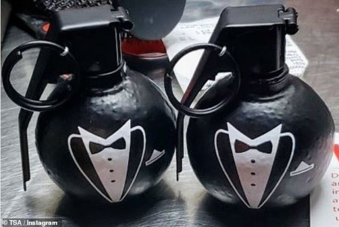 Nepbommen voor bruidegommen met een cadeau erin