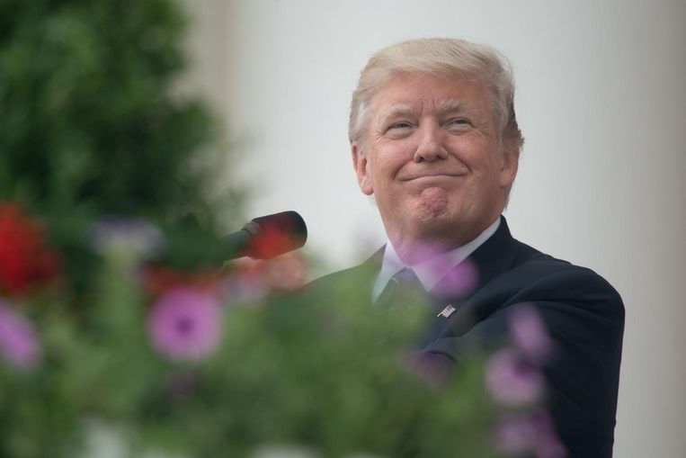 Trump zou overwegen om meer buitenlandse reizen te gaan maken. Hiermee zou hij zich meer willen profileren als wereldleider die opkomt voor de belangen van Amerika. De reizen moeten ook de indruk wegnemen dat zijn presidentschap volledig wordt overheerst door het Rusland-schandaal. Beeld AFP