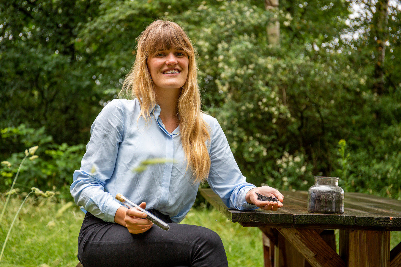 Eva Everloo van Pyropower op het WFC in Ede.
