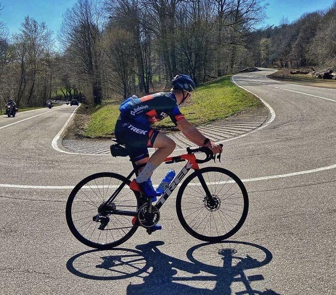 Niels Merckx bereidde het komende seizoen voor in de Ardennen.
