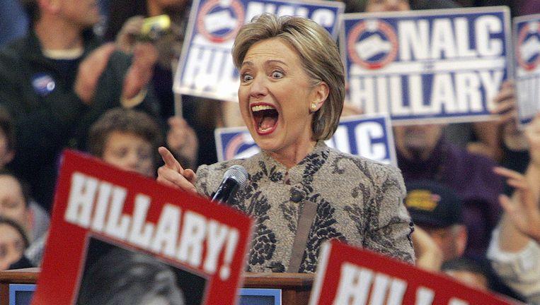 Hillary Clinton in New Hampshire tijdens haar campagne in 2008. Beeld AP