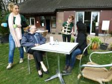 Theetuin in Wagenings arboretum open
