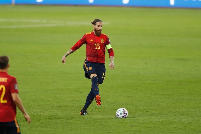 Ramos in het shirt van Spanje: een beeld dat we niet zullen zien op het EK.