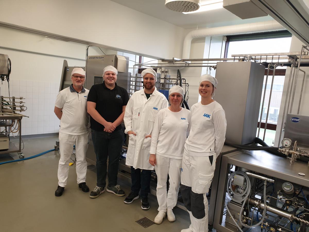 Mike van Heezik in Zweden bij een onlangs opgeleverd project.