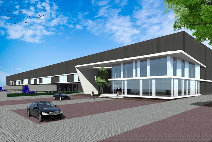 Het pand dat bouwbedrijf VolkerWessels in Waalwijk gaat bouwen op de plek waar voorheen Martens Beton zat.