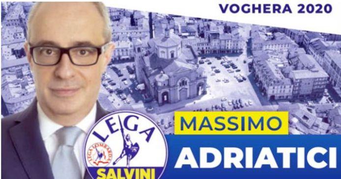 Massimo Adriatici op een verkiezingsposter.