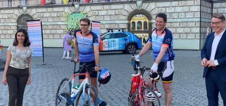 Schepen Tom Meeuws fietst voor het klimaat