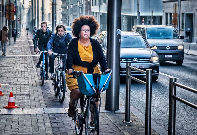 Wetstraat, Brussel. 'In de hoofdstad wordt nu de omslag gemaakt.' Beeld Tim Dirven