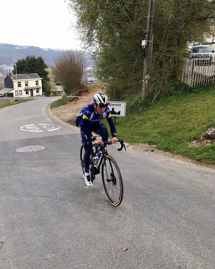 Remco Evenepoel trainde een week voor de Giro nog in Stavelot.