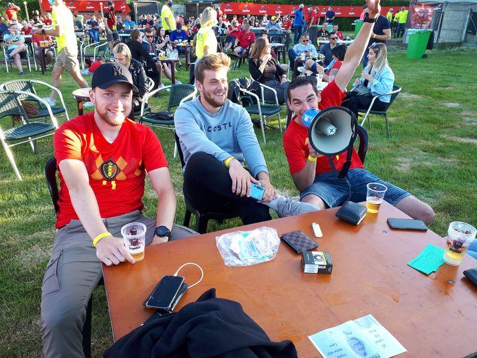 Jonathan en zijn vrienden Gilles en Yari.