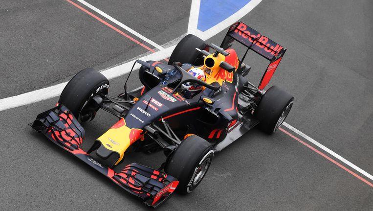 Red Bull testte vandaag de 'halo' maar dat bleek geen succes Beeld Photo News