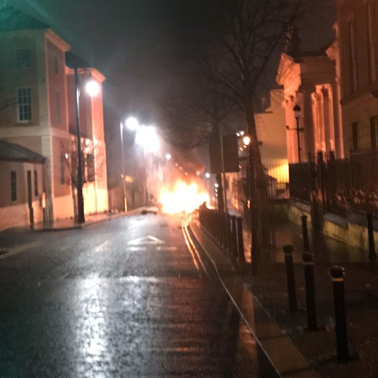Een bomauto ontplofte gisteren in Londonderry