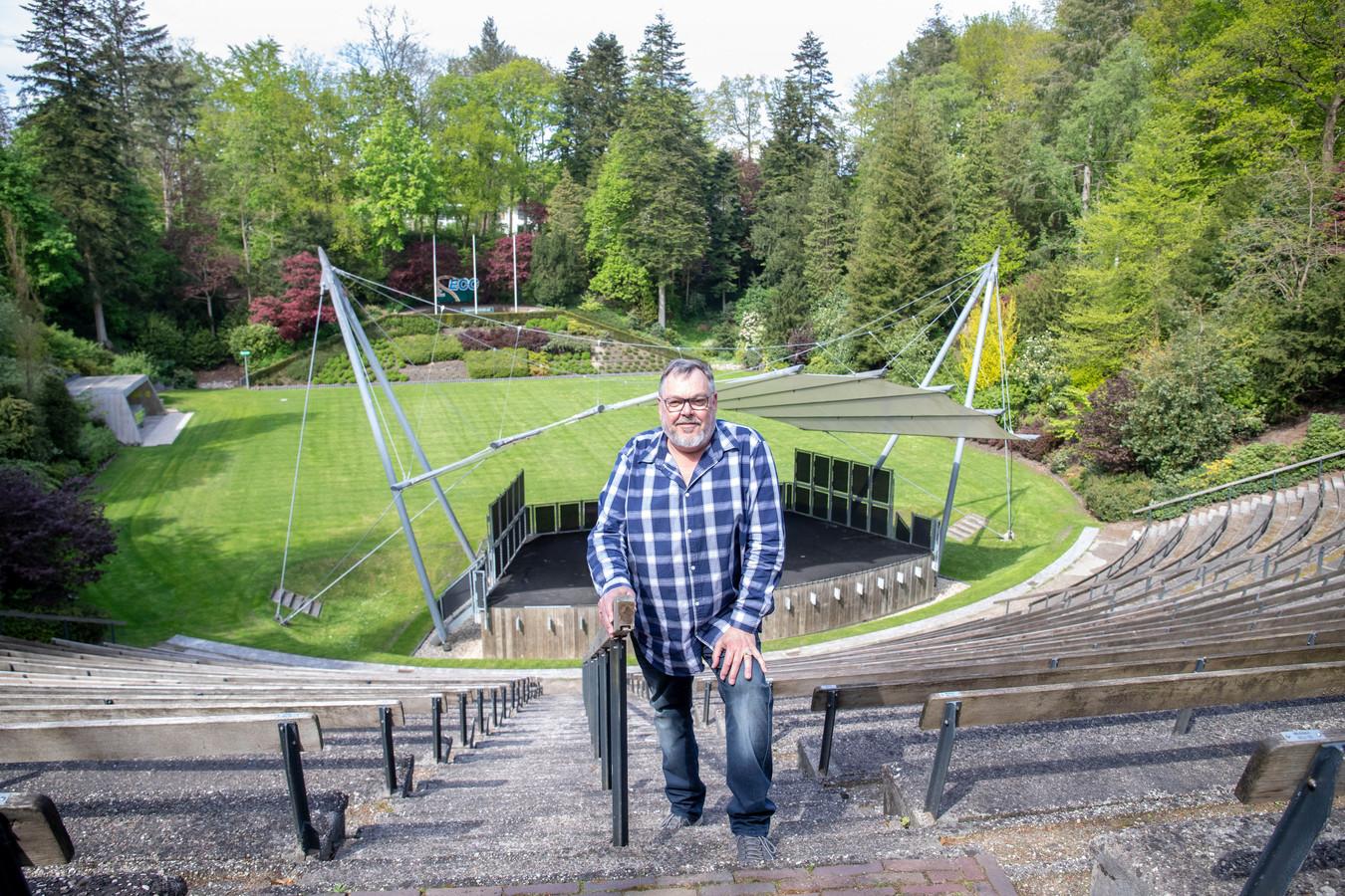 """Guus Wijnsouw van Openluchttheater Ede hoopt op een zomer vol cutureel vermaak. ,,In september moet het hier weer vol zitten."""""""