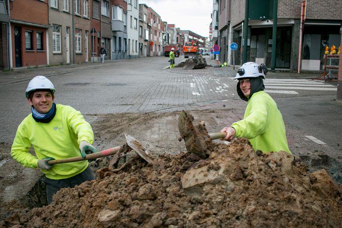 Arbeiders zijn maandag aan de slag gegaan op Tereken.