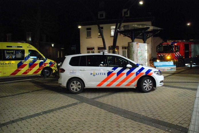 Hulpverleners bij station Boxtel