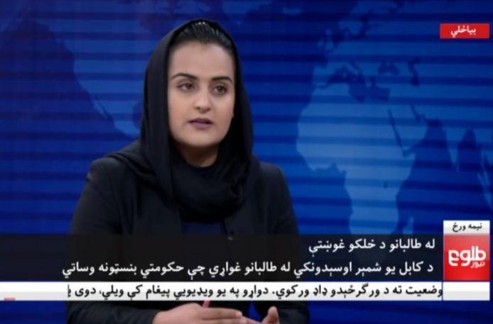 Beheshta Arghand interviewde als eerste vrouw ooit een lid van de taliban.