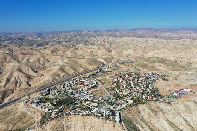 De Joodse nederzetting Mitzpe Yeriho op de Westelijke Jordaanoever. Beeld AP