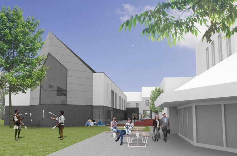 Een simulatiebeeld van hoe de nieuwe academie er zal uitzien.