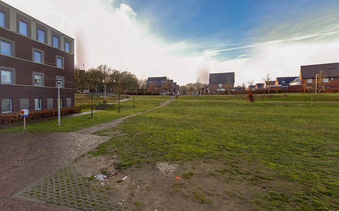 De plek op Saksen Weimar in Arnhem waar woontoren De AppèlPlaats moet verrijzen.