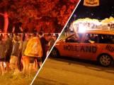 Massaal feest met honderden supporters op Oranjerotonde in Apeldoorn