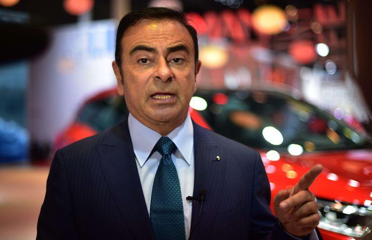 Carlos Ghosn, CEO van Renault Nissan. Beeld AFP