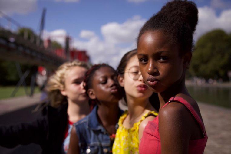 Amy en haar vriendinnen in Cuties. Beeld Netflix