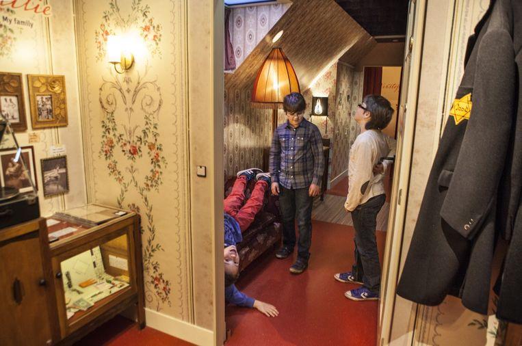 In 2013 geopende Verzetsmuseum Junior kunnen bezoekers volgen hoe vier jonge Nederlanders de oorlog doorkomen. Beeld Floris Lok