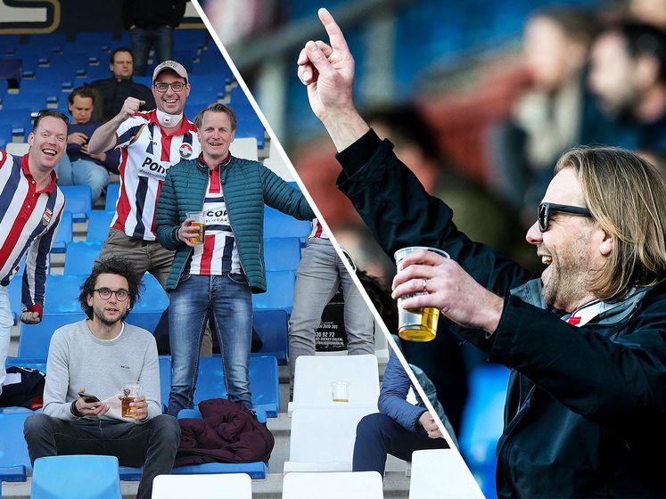Fans terug in het stadion: 'Drie punten en tien bier'