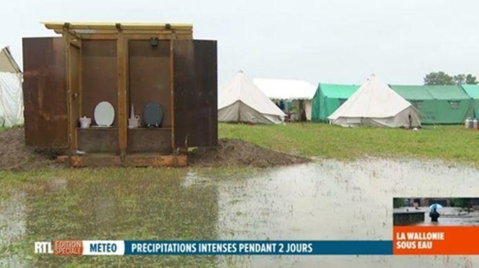 Un camp scout a été évacué à Couvin (photo).