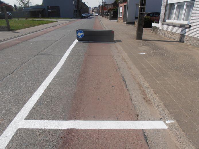 De Schoolstraat in Denderhoutem.