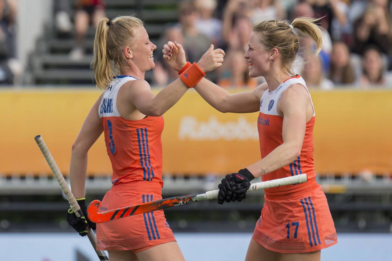 De Nederlandse hockeysters wonnen vijftien van de zestien wedstrijden in de groepsfase.