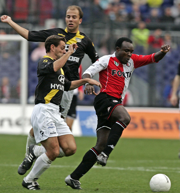 Archieffoto: Christian Gyan was tussen 1996 en 2007 een van de geliefdste voetballers van Feyenoord.
