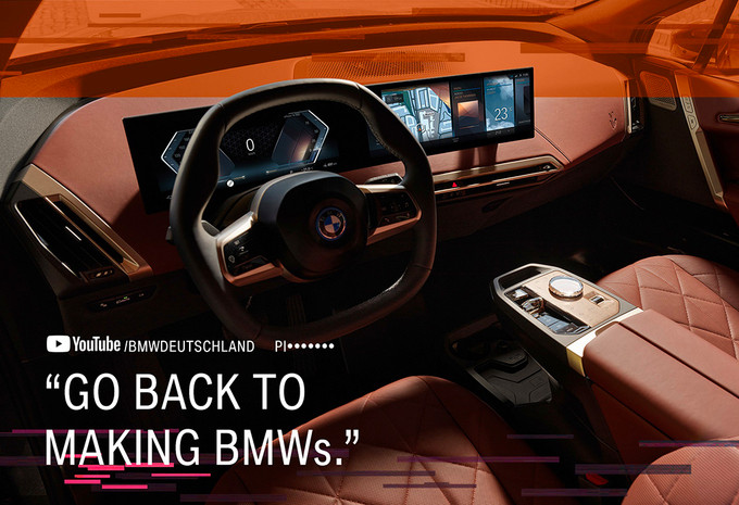 BMW's anti-haatcampagne naar aanleiding van het vele commentaar op de omstreden 'hazentanden'-grille van nieuwe modellen.