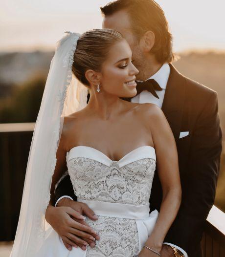 Op elke trouwfoto van Sylvie ontbreekt gezicht van Niclas: 'Relatie zoveel mogelijk privé houden'
