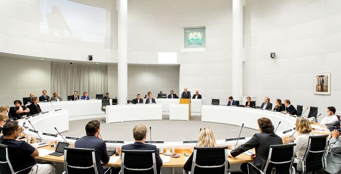 De gemeenteraad van Den Haag bijeen.