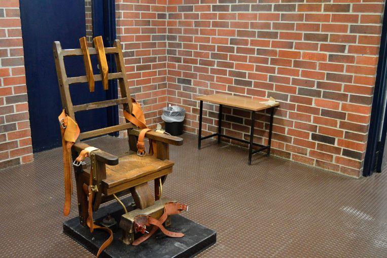 Elektrische stoel in Columbia, South Carolina. Beeld AP