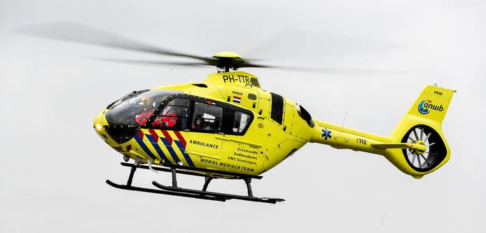 Bij het ongeluk in Vorden kwam een traumahelikopter ter plaatse