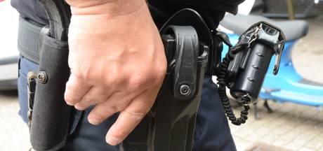 Agenten met getrokken pistolen houden man aan in Oostburg