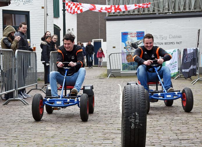 De skelterrace in Oud-Terneuzen is inmiddels een jaarlijkse traditie.