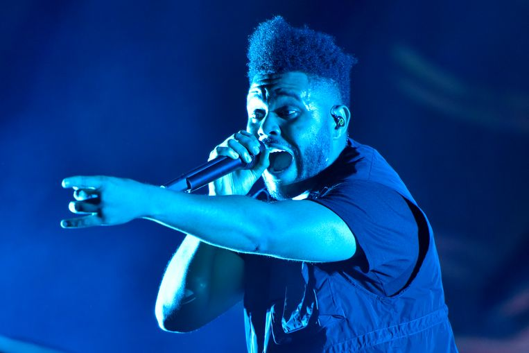 The Weeknd tijdens een vroegere editie van Lollapalooza in Chicago. Beeld Rob Grabowski/Invision/AP