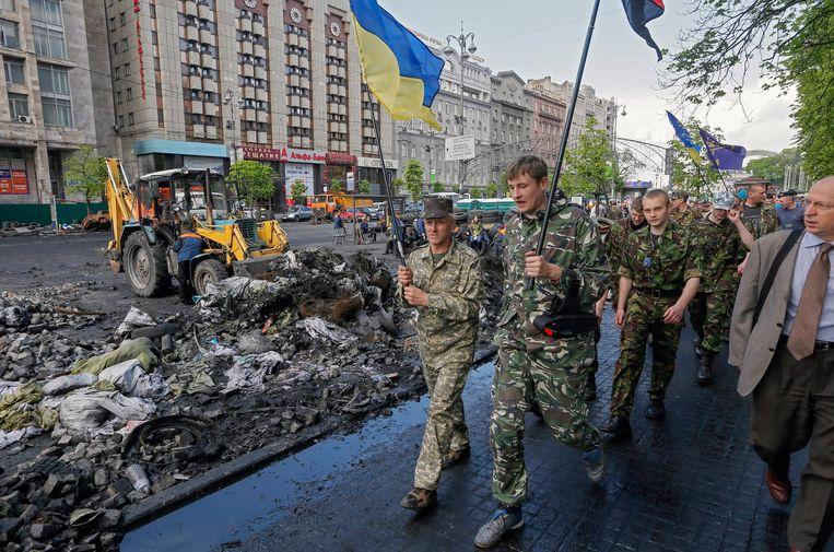 De sancties van het Westen tegen Rusland kwamen er na de annexatie van de Krim in Oekraïne.  Beeld EPA