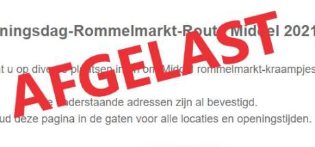 Rommelmarkt-route in Middel op last van gemeente afgelast