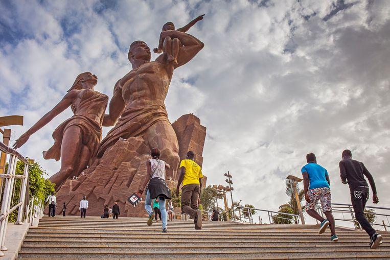 Het African Renaissance Monument in Dakar, Senegal. Beeld © Lucas Vallecillos